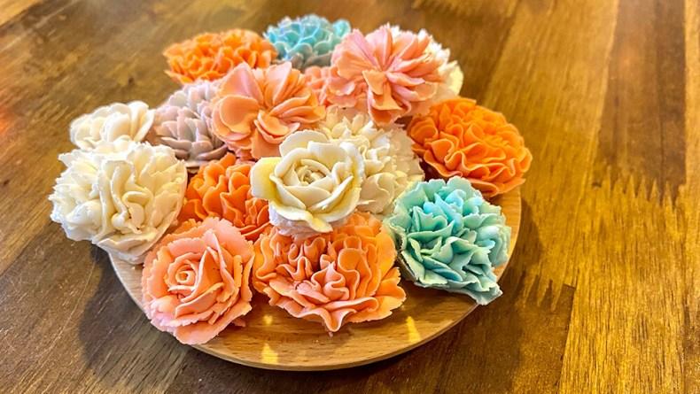 花瓣,花朵蛋糕,