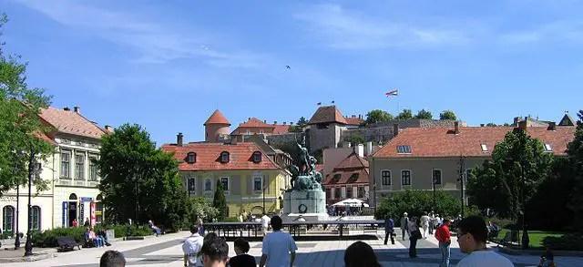Eger, Hungary - Dobó Square