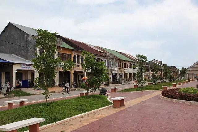 Empty streets, Kampot, Cambodia
