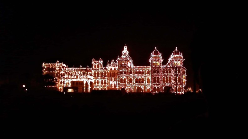 Mysore Palace Lighing In The Night