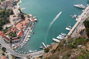 Kotor Bay, an aerial view