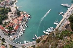 Kotor Bay, an aerial view