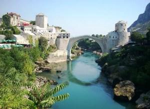 Panorama of Mostar town