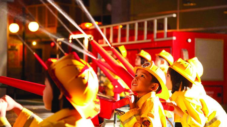 being a fireman in kidzania malaysia