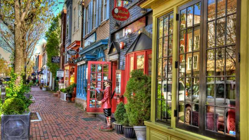 Old town Alexandria streets