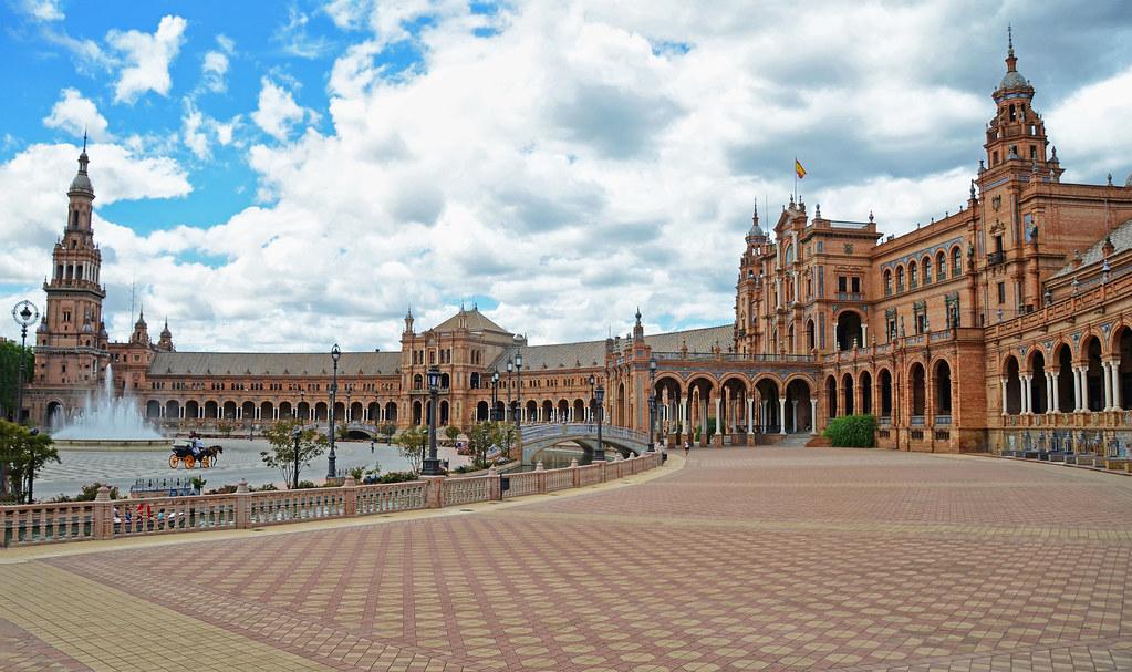 Flickr Plaza de España, Seville Spain
