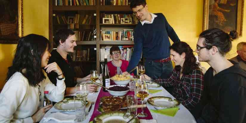 hungarian meal in local home