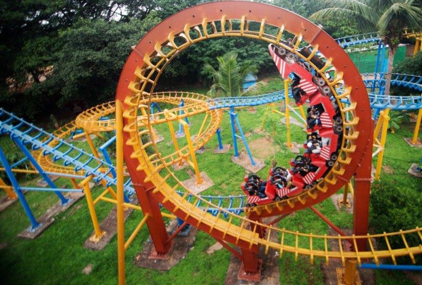 roller coaster at fun world bangalore