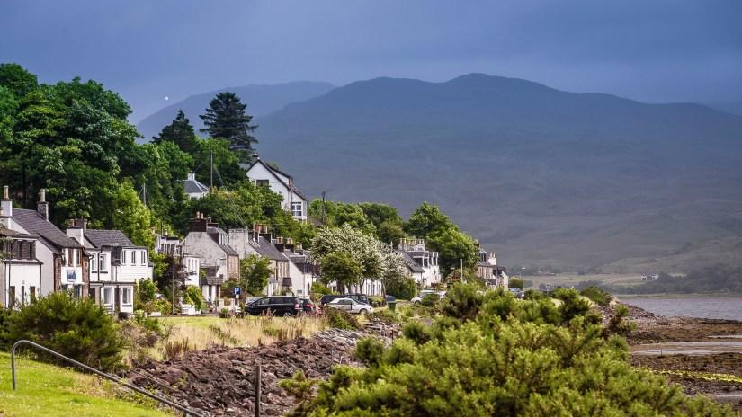 the village next to Lochcarron, Scotland