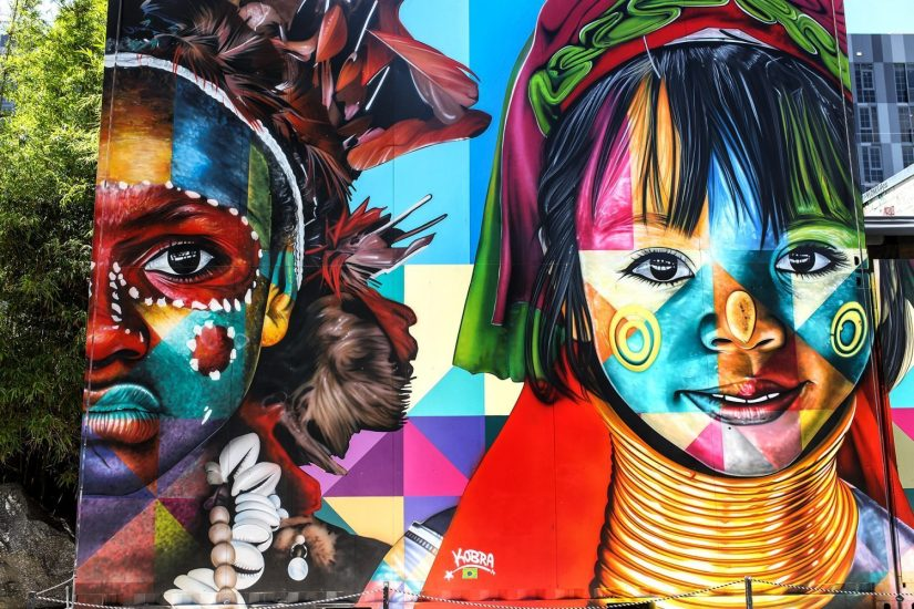 the mural at Miami Wynwood Art District