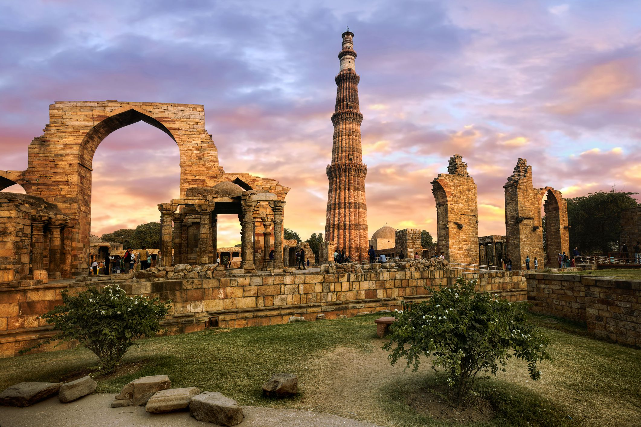 Qutab Minar, tallest brick minarets in the world