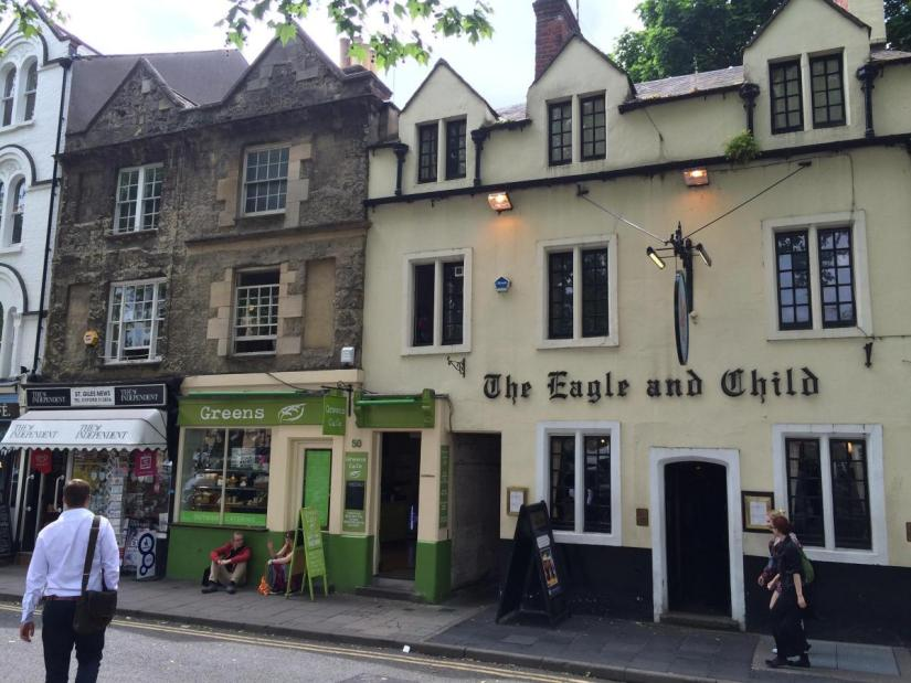 The Eagle and Child, a favourite pub of CS Lewis and JRR Tolkien
