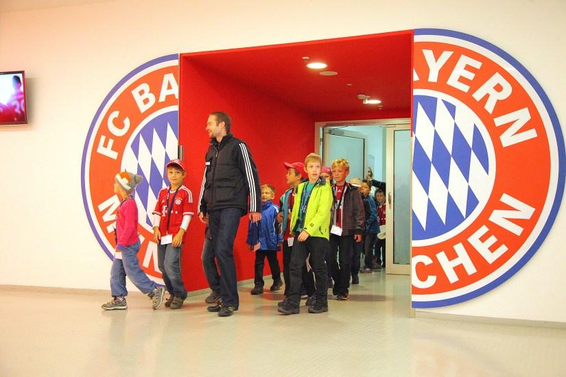 a kids tour at Allianz Arena