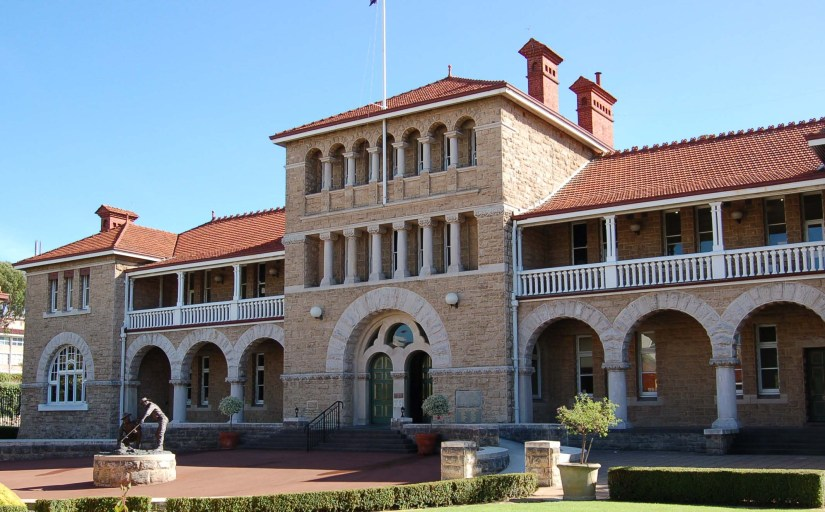 the facade of Perth Mint