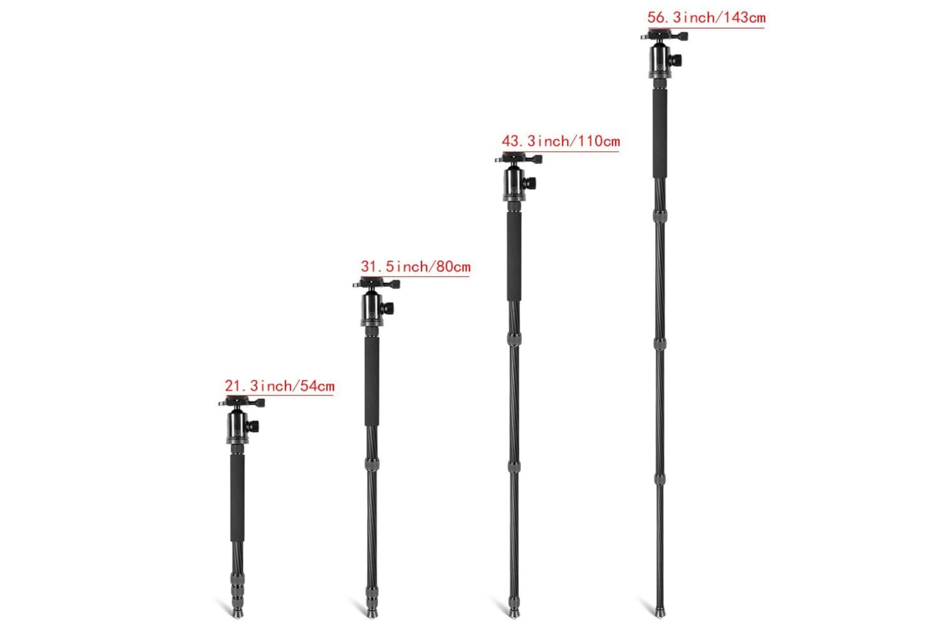 monopod feature of tripod for hiking