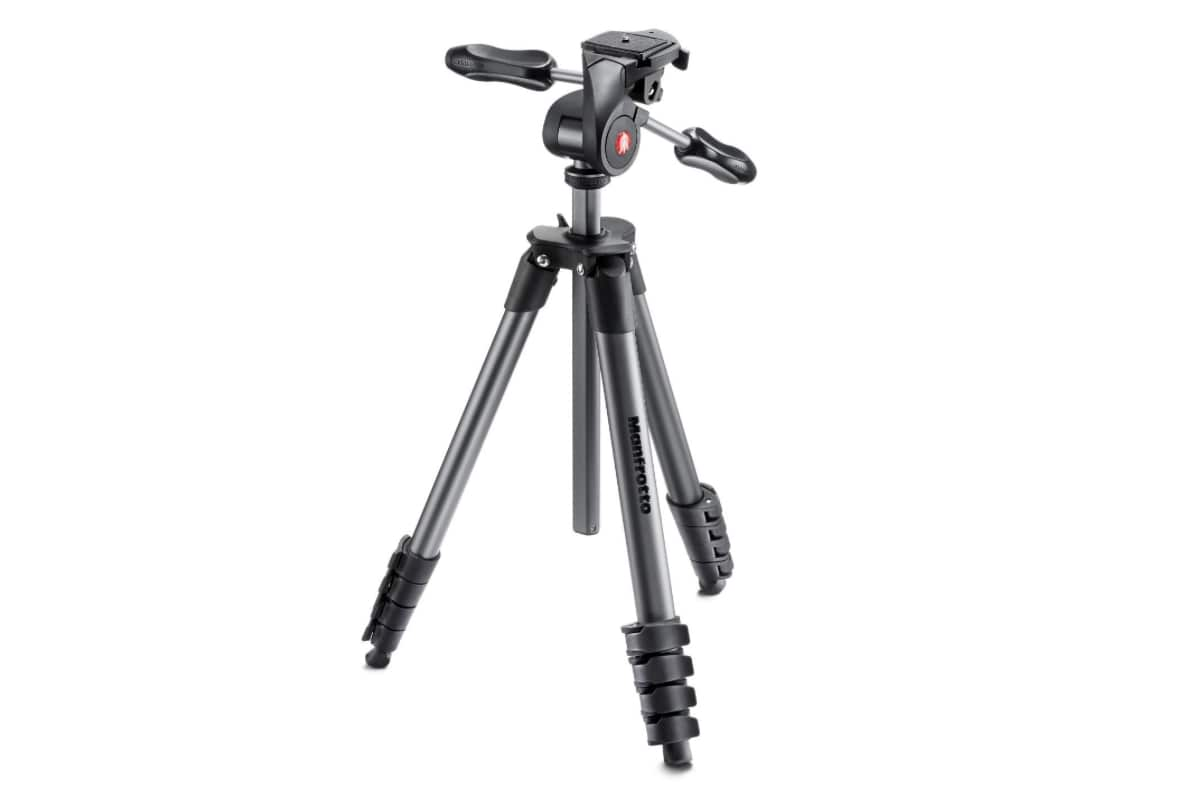 Manfrotto MKCOMPACTADV-BK Tripod with 3-Way Head best manfrotto tripod