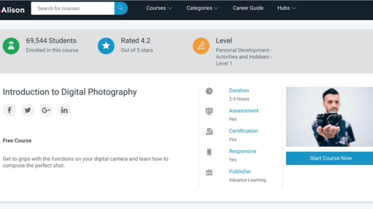 Harvard University Introduction To Digital Photography course online