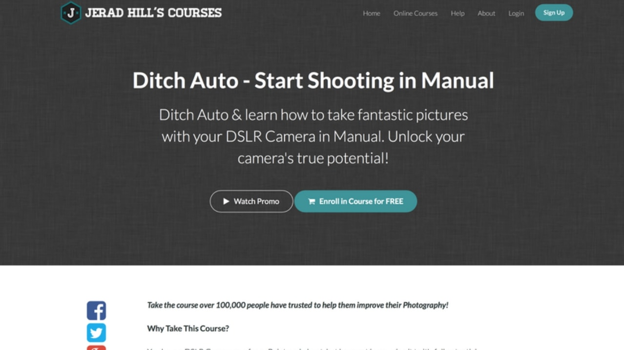 Jerad Hill: Start Shooting Manual photography course