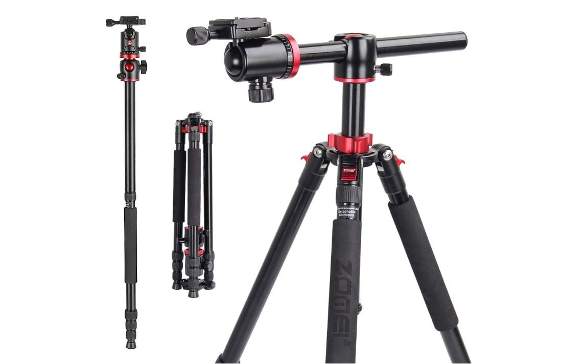 ZOMEI Camera Tripod 72 inch Portable Professioional Aluminium Monopod 4 Section Professional Tripods 360 Degree Ball Head QR Plate Canon Nikon DSLR DV Scope Camcorder Projector Review