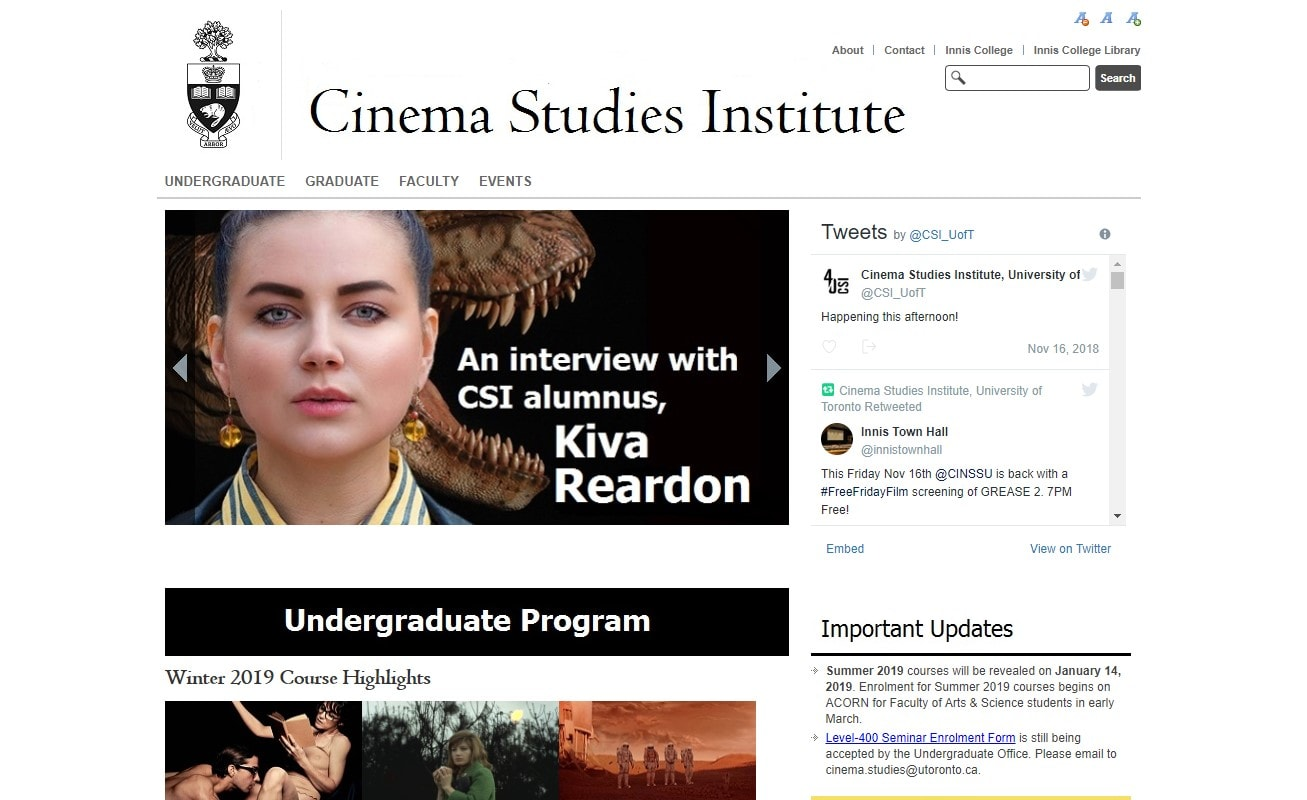 Cinema Studies Institute at University of Toronto