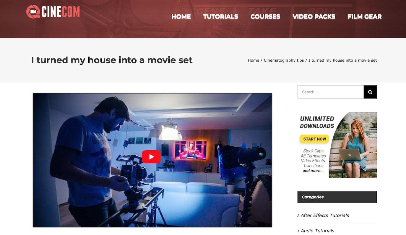 I turned my house into a movie set
