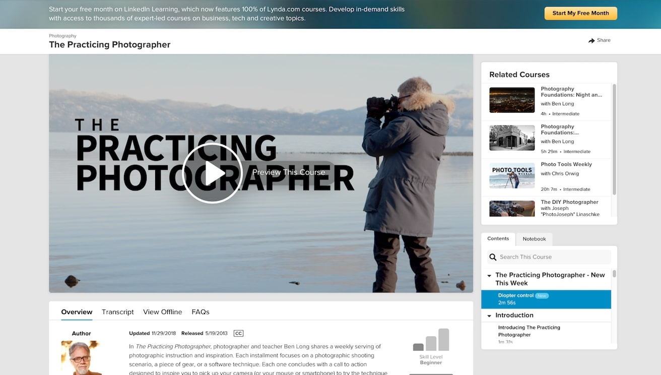 Lynda – The Practicing Photographer online free course