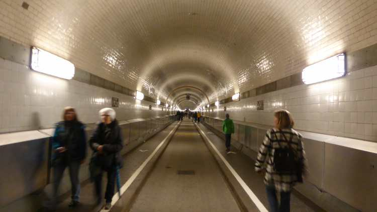 The Old Elbtunnel in Hamburg, Germany