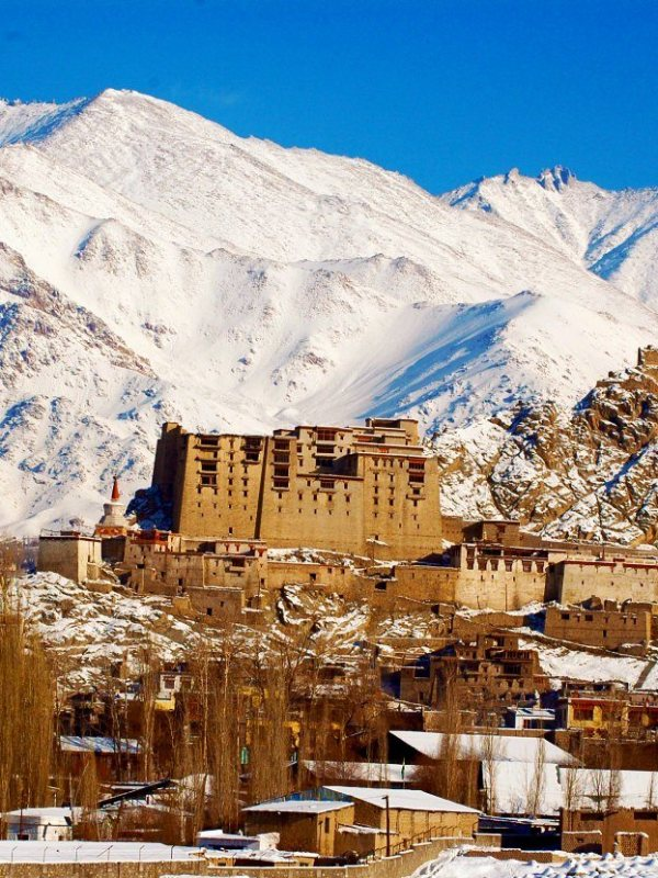 Ladakh during winters