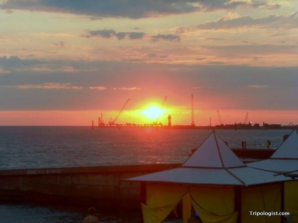 A beautiful sunset over the Black Sea.