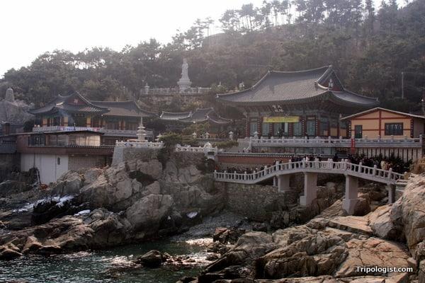The beautiful, ocean-side Haedong Yonggung Temple outside Busan, South Korea.