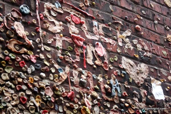 The gross, but still cool, Gum Wall in Pike Place Market.