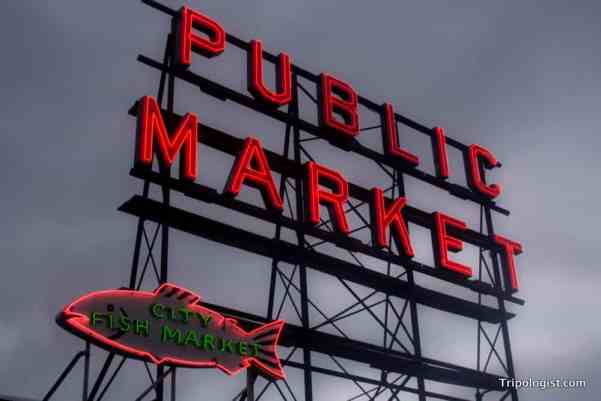Visiting Pike Place Market in Seattle, Washington, USA.