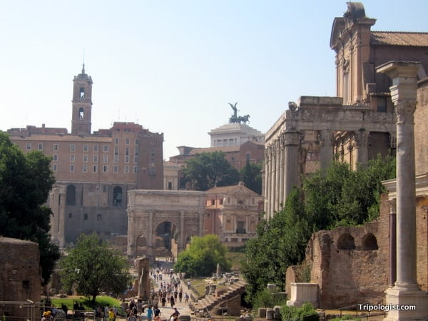 The ancient Roman Forum is definitely worth visiting when in Rome, Italy.