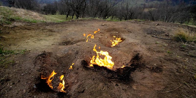 Seeing the living fire at Buzau