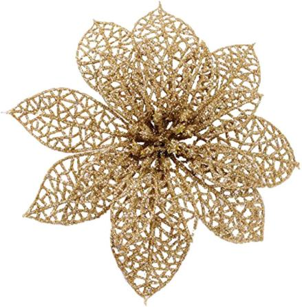 Crazy Night Poinsettia ornaments, Outdoor Christmas Tree Decorations