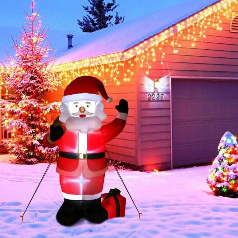 Greeting Santa Inflatable