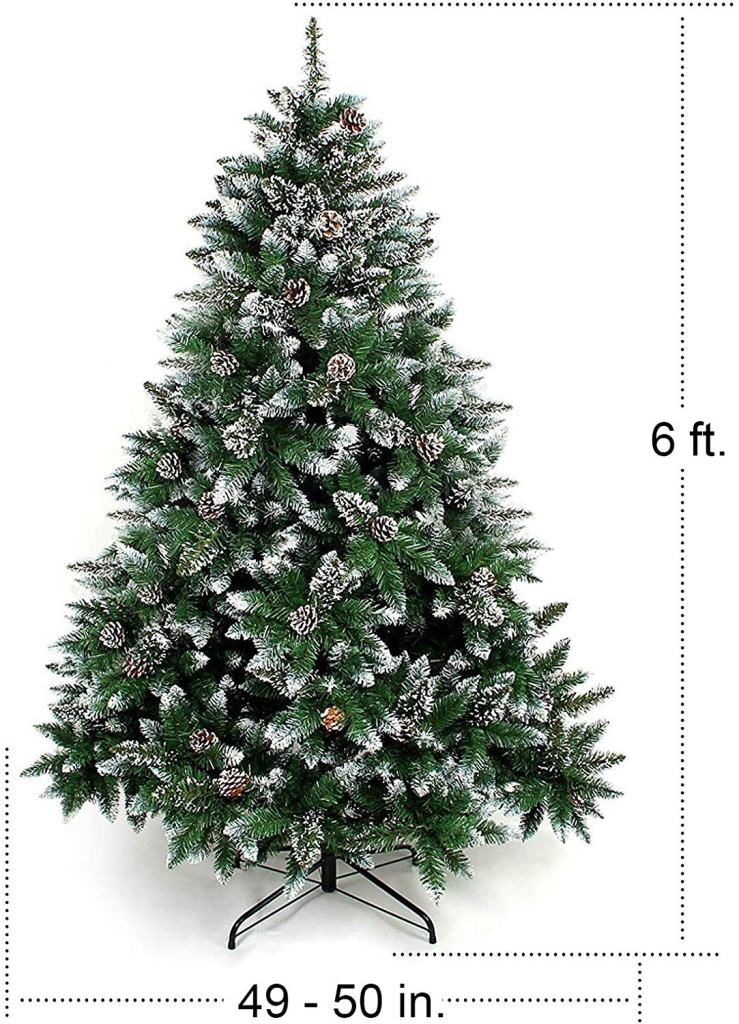 Best Christmas Tree Online, Homde 6 ft. Tree with flocked snow pine
