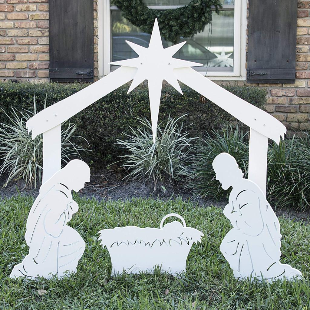 Outdoor Holy Family Nativity Set
