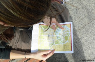Adelaide_checking downtown map