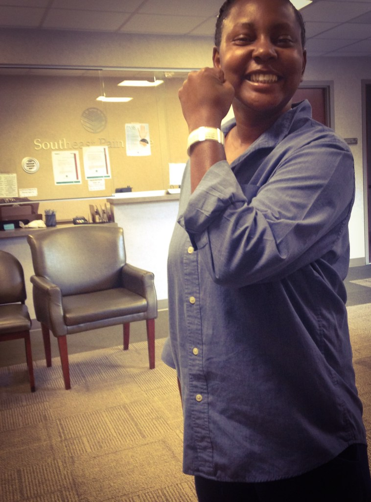Kris at Pain Center