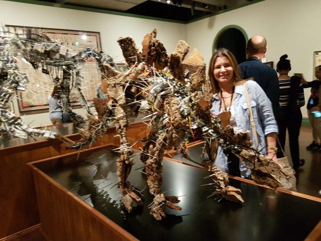 MONA - Recycled dinosaur art sculptures
