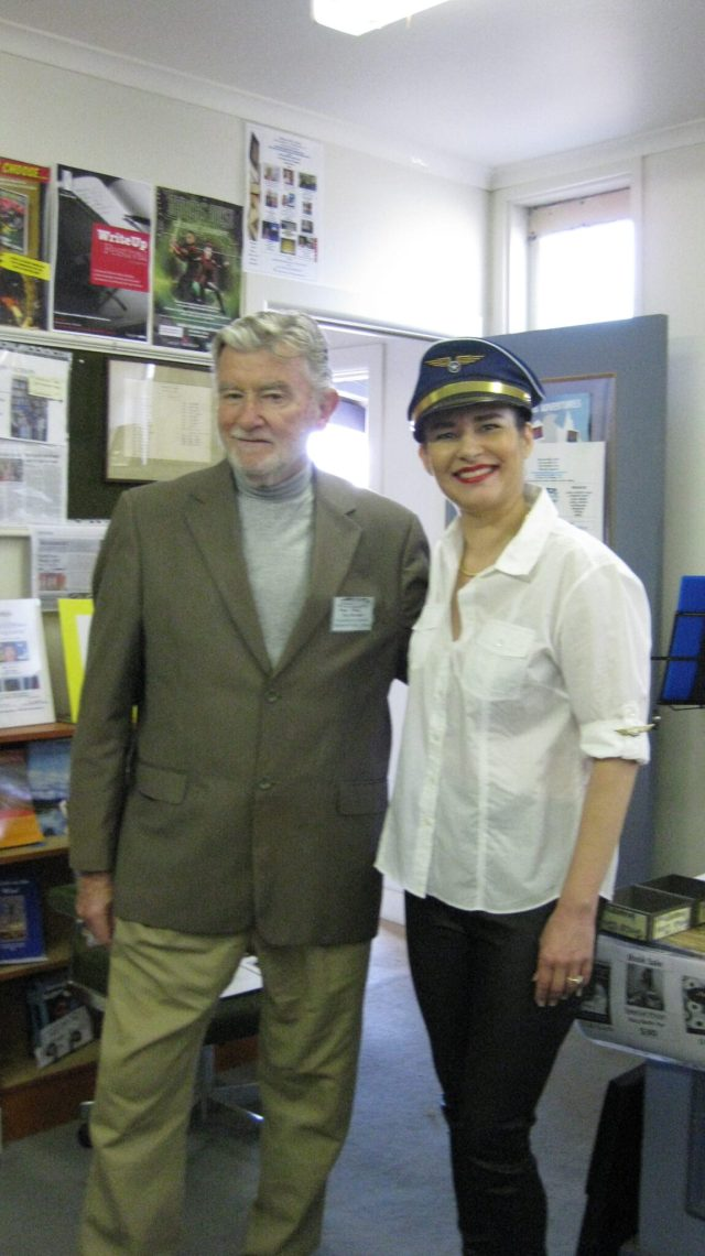 Danae and Tony, President of Mentone Public Library
