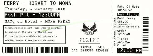 Mona Roma Ferry Review - Mona Roma Ferry Posh Pit Ferry Ticket