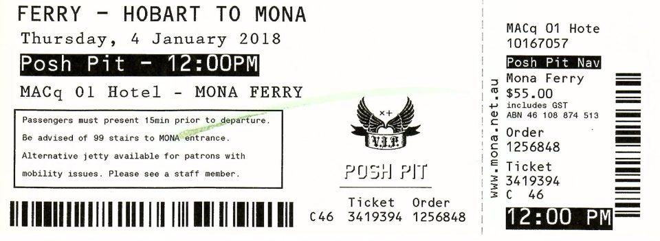 Mona Roma Ferry Review - Mona Roma Ferry Posh Pit Ferry Ticket