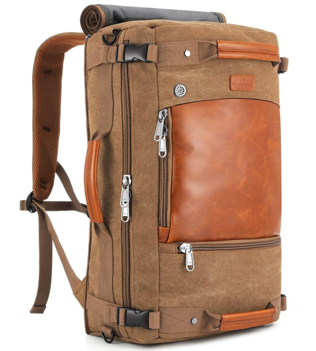 Plambab Canvas Travel Duffel Retro Backpack