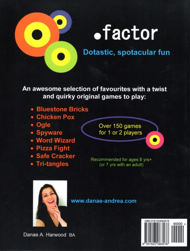 Dot Factor Games Book cover back