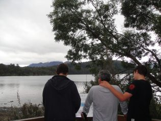 Calm and peaceful lake at Leeawuleena (Sleeping Water)or Lake St Clair