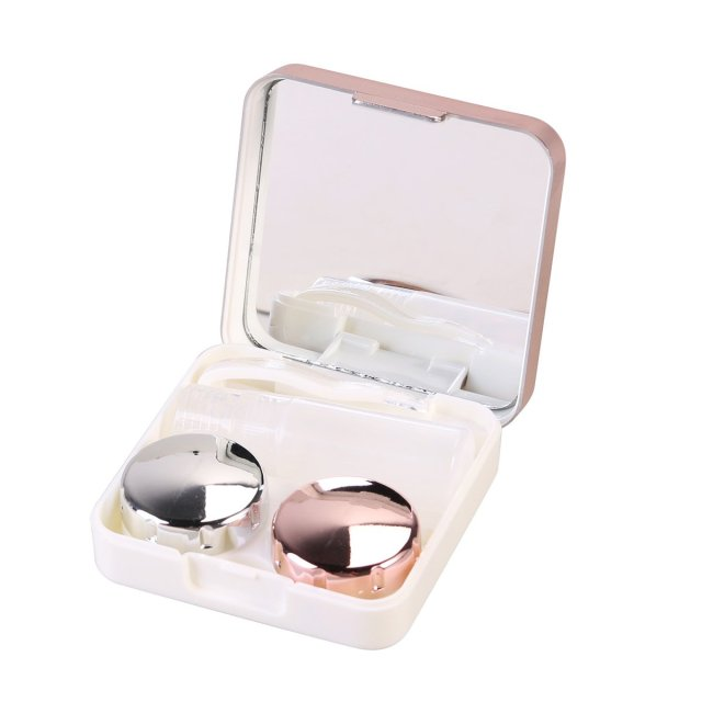Rosenice Mini Travel Contact Lens Box - light pink