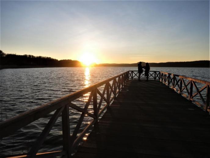 Sonnenuntergang am Schmachter See Binz