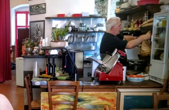 A delicious sandwich shop in La Spezia, Italy.